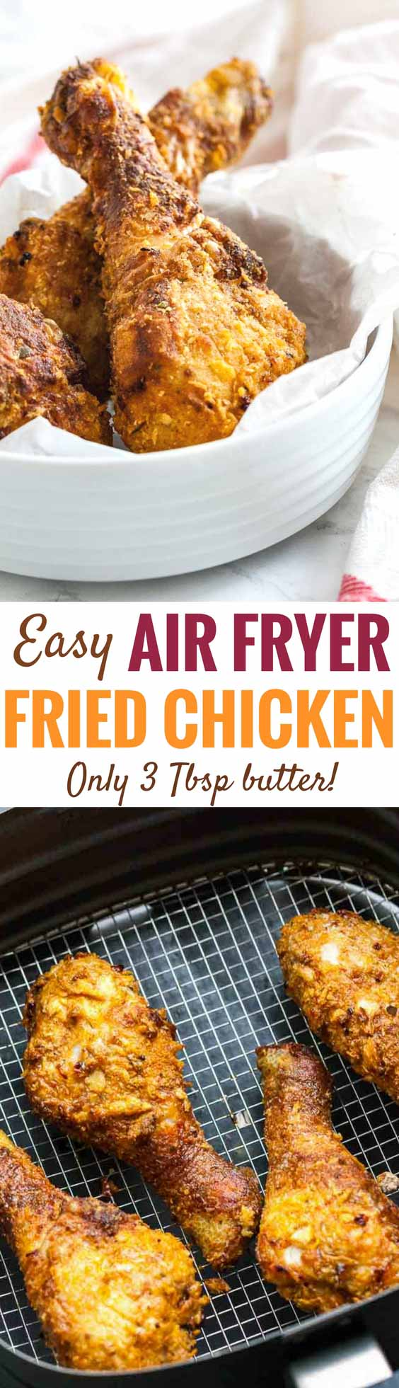 Airfryer Chicken Drumsticks Easy Air Fryer Fried Chicken
