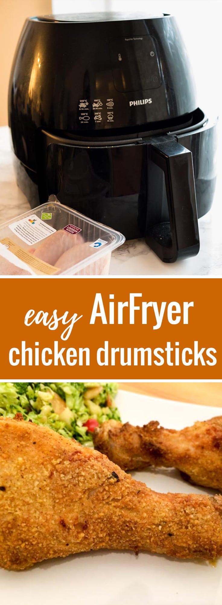 Airfryer Chicken Drumsticks Plated Cravings