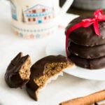 German Gingerbread or Lebkuchen is a very popular sweet treat during Christmas time in Germany! These Elisenlebkuchen are made with ground nuts and a gingerbread spice mixture which gives them their special flavor.