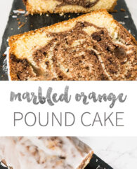 This easy and moist Marbled Orange Pound Cake is made from scratch with two different orange-infused batters! Even if you're a beginner you can make this simple cake recipe without a box mix.
