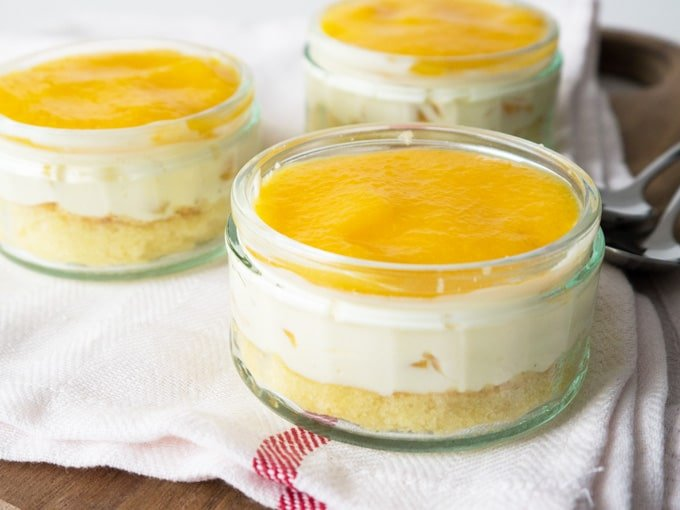 This Easy Canned Peach Dessert is so refreshing and perfect to make in advance! Serve it as a Dessert in a glass or as a cake.