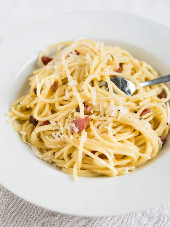 15-minute Spaghetti alla Carbonara | Plated Cravings