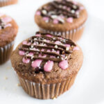 These Cherry Nutella Muffins are chocolaty, fruity, and made with Nutella!