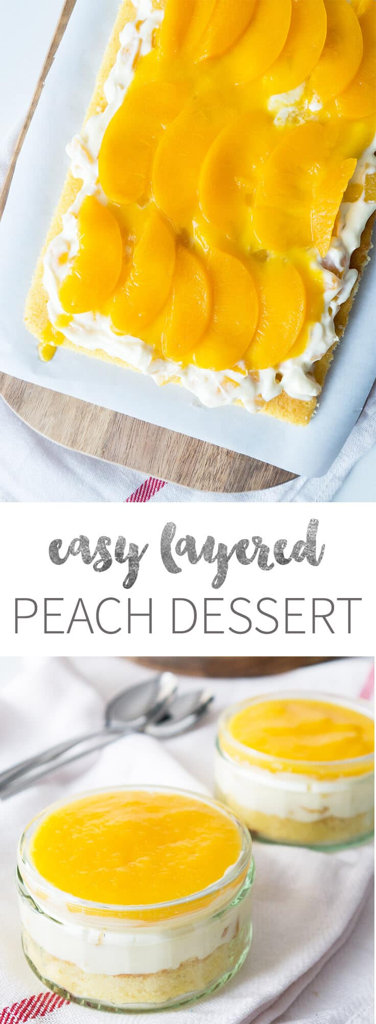This easy canned peach dessert has 3 layers and is refreshing and ...