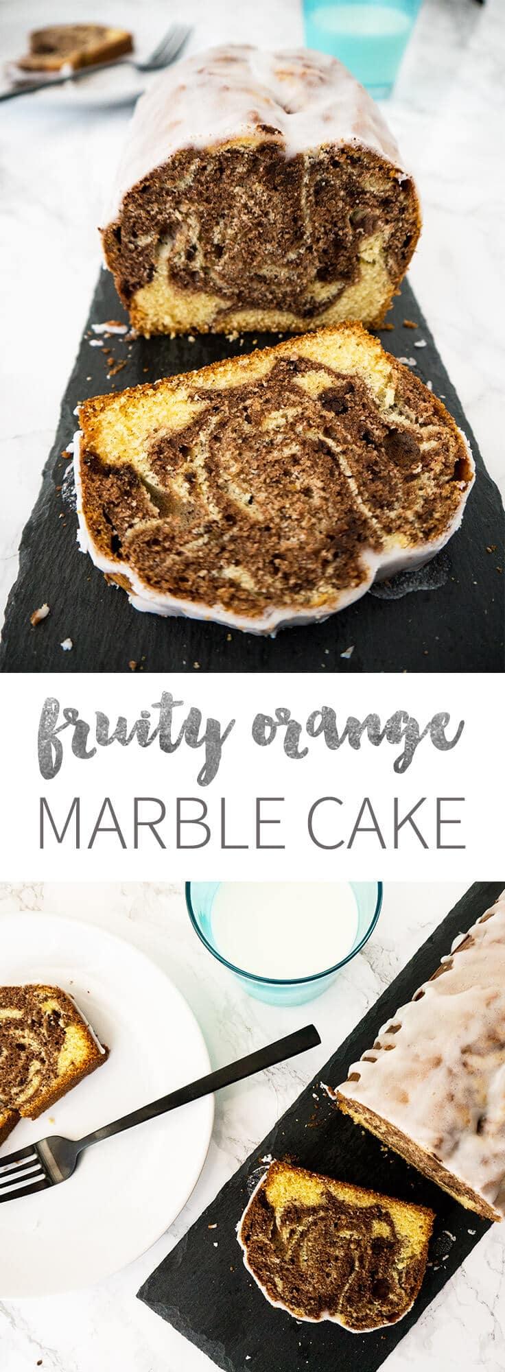 Orange Marble Pound Cake Recipe — Dishmaps