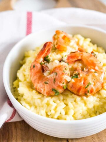 Saffron Shrimp Risotto