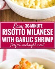 Saffron Shrimp Risotto