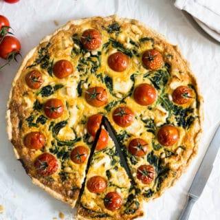 Easy Spinach Tomato Quiche