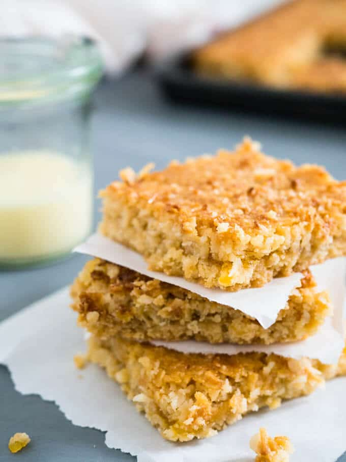 Tropical Coconut Squares | Plated Cravings