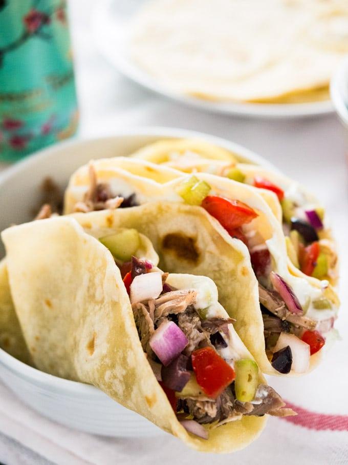 Greek Tacos with homemade Tzatziki
