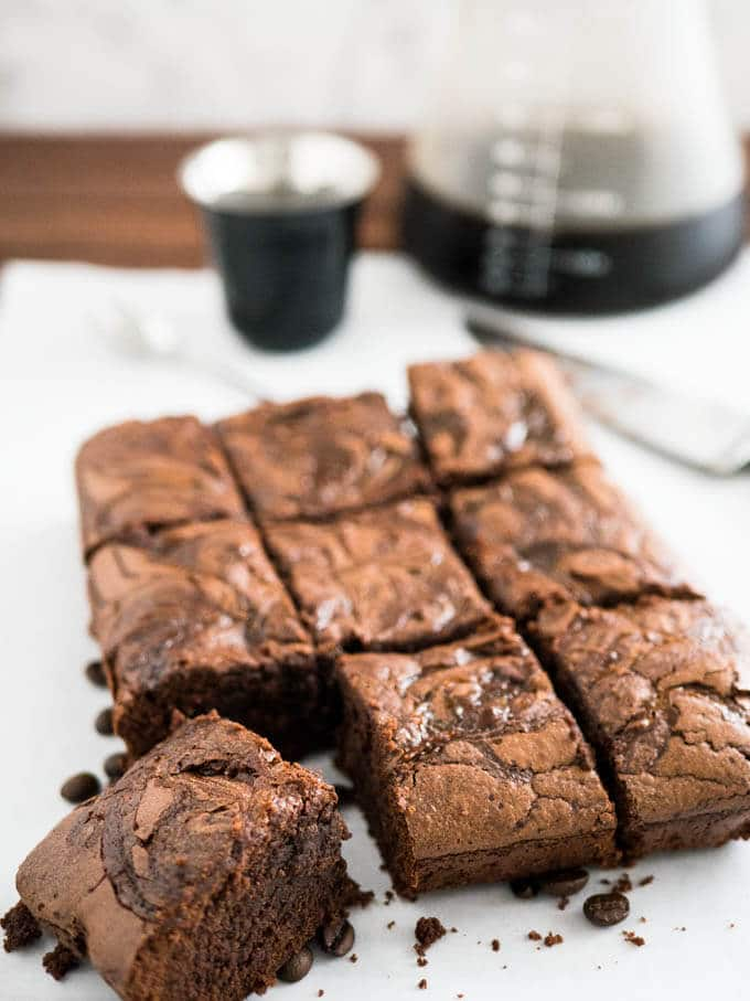 Brownies With Coffee Grounds