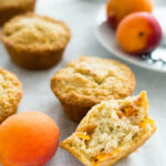 Skinny Oatmeal Apricot Muffins are perfect for breakfast-on-the-go! They're refined sugar-free, moist, full of fresh fruit, and completely delicious.
