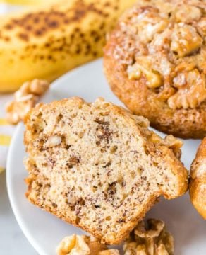 Banana Nut Bread Muffins