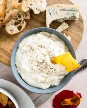 Gorgonzola Cream Cheese Spread is super easy to make, packed with flavor, and great as a dip with crackers or spread on your favorite bread!