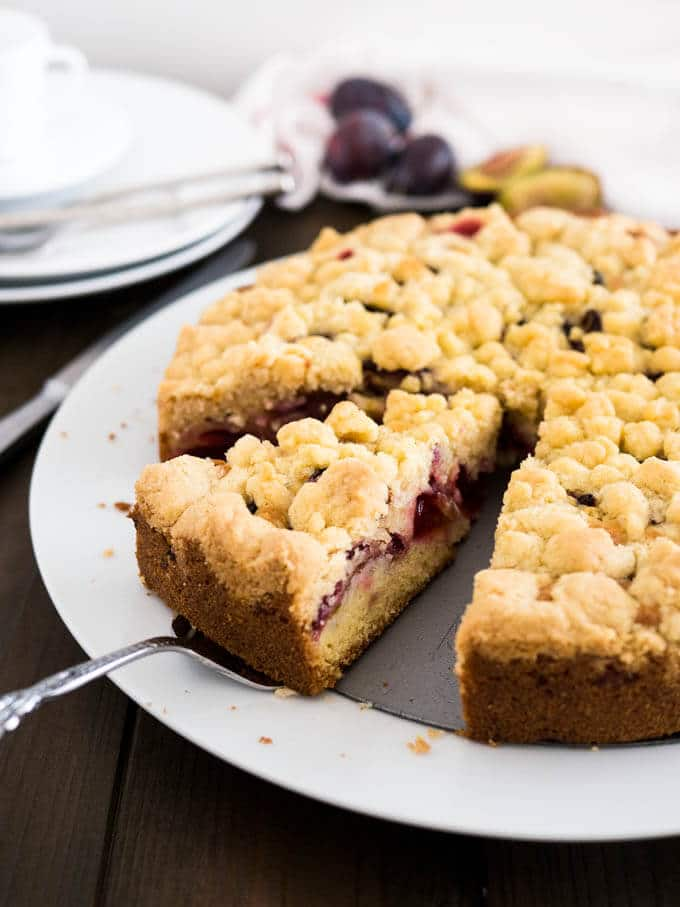 Plum Cake With Streusel German Plum Crumble Cake Plated Cravings