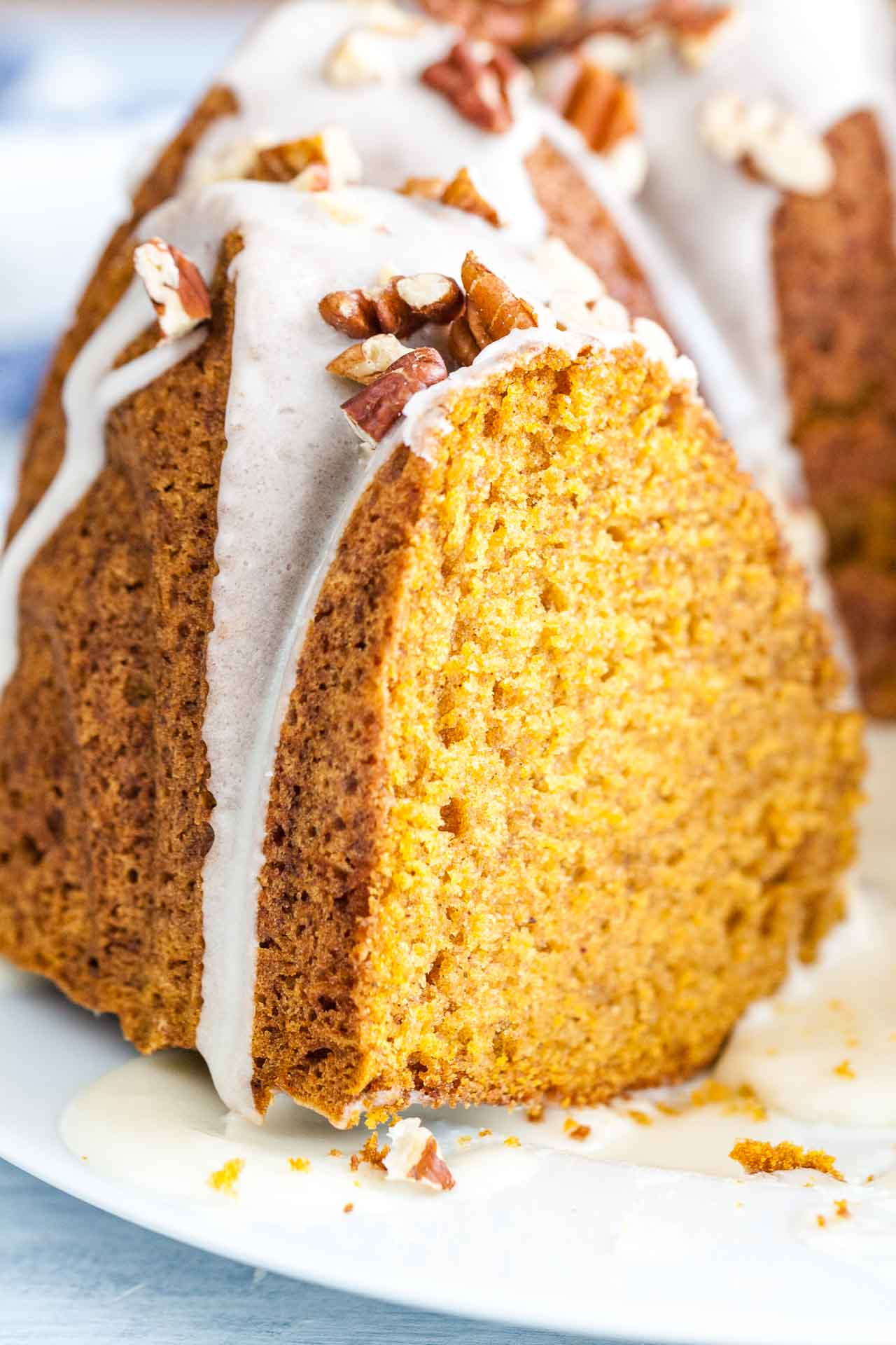 Pumpkin Bundt Cake With Maple Glaze Plated Cravings