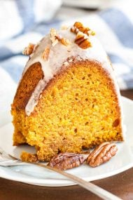 Pumpkin Bundt Cake with Maple Glaze