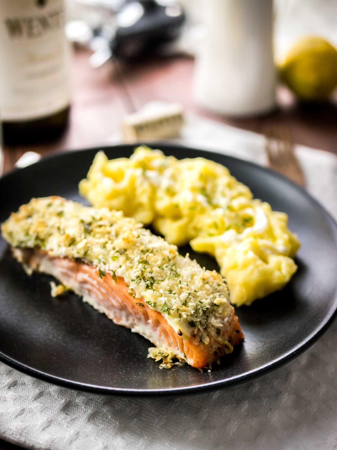 Horseradish Parmesan Crusted Salmon Plated Cravings
