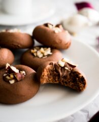 These Nutella Cookies are SO easy and quick to make! You only need FOUR ingredients to make these hazelnut spread stuffed cookies.