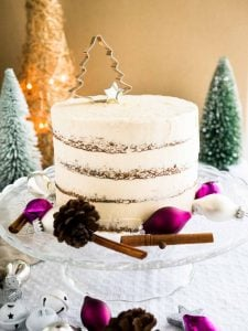 This Gingerbread Cake recipe is perfect for the holidays! A spicy and sweet ginger cake with a delicious Baileys cream cheese frosting.