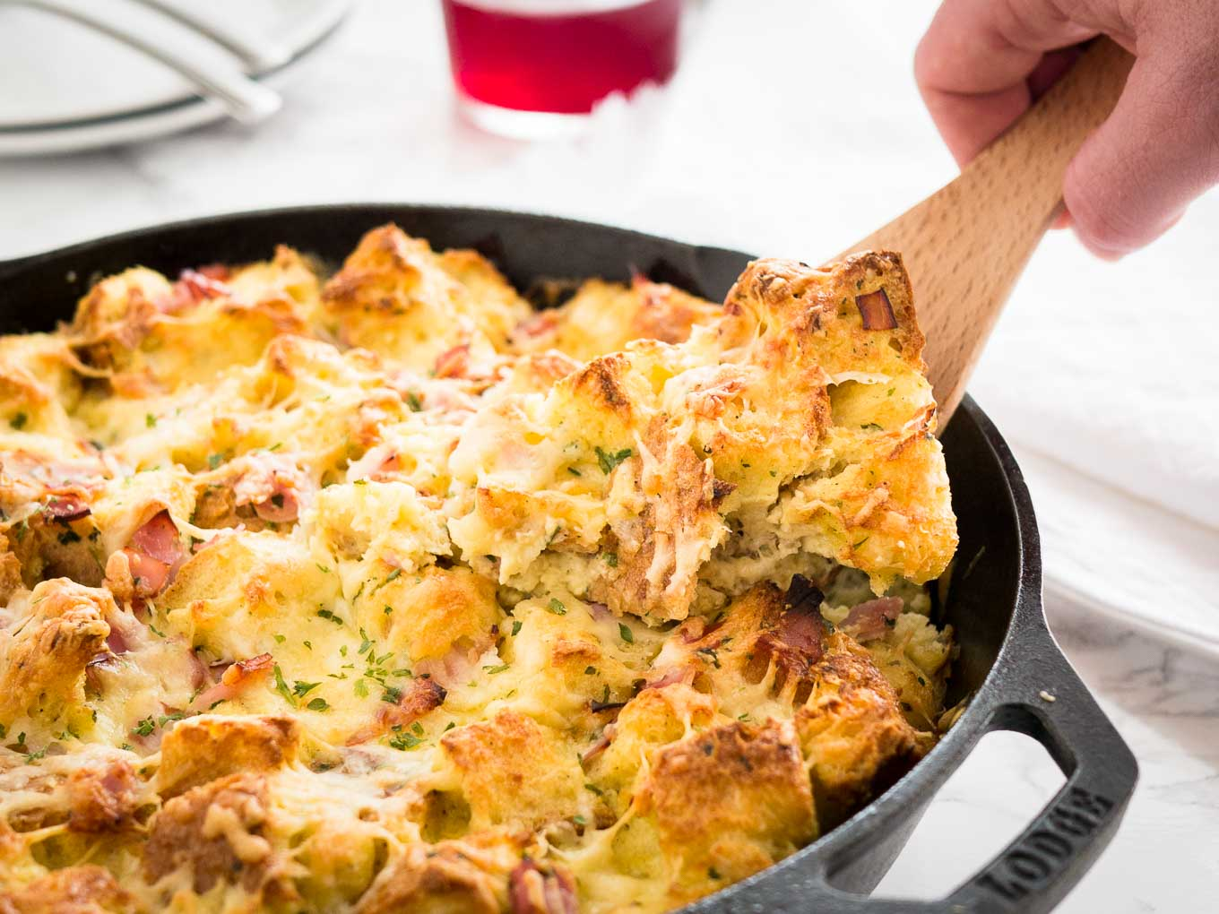 Ham and Cheese Breakfast Casserole | Plated Cravings