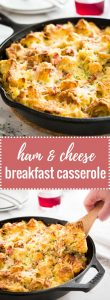This Ham and Cheese Breakfast Casserole is the perfect dish to use leftovers! A delicious breakfast bake or strata made with bread, cheese, and ham that will become your family's favorite.