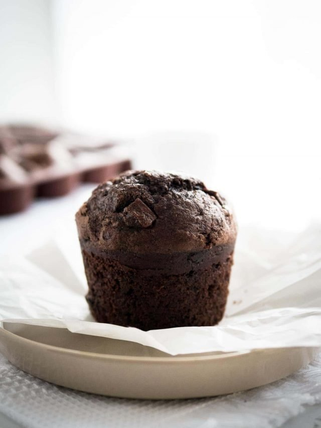 Chocolate Banana Muffins Plated Cravings