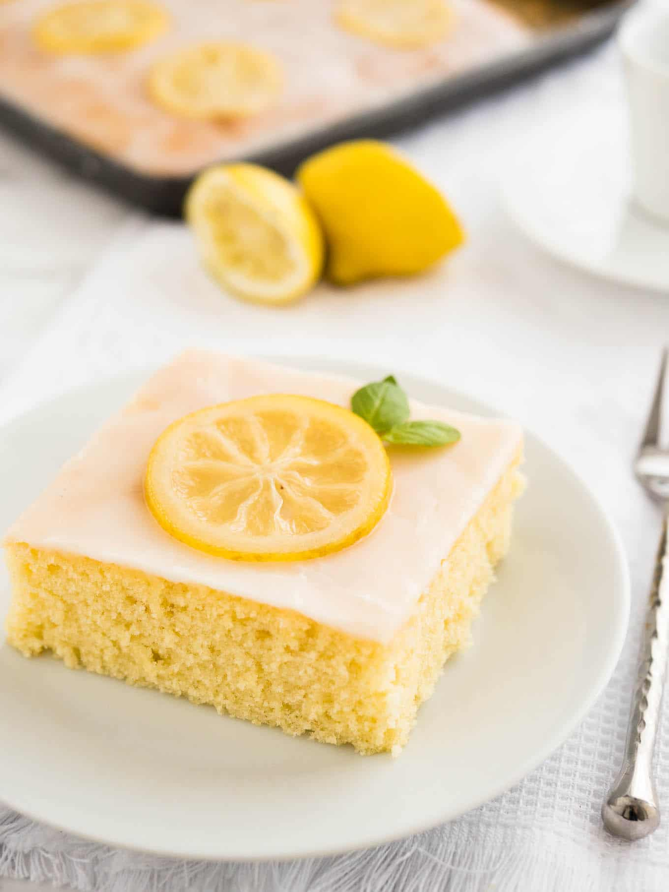 lemon sheet cake easy lemon sheet cake recipe plated cravings 5490