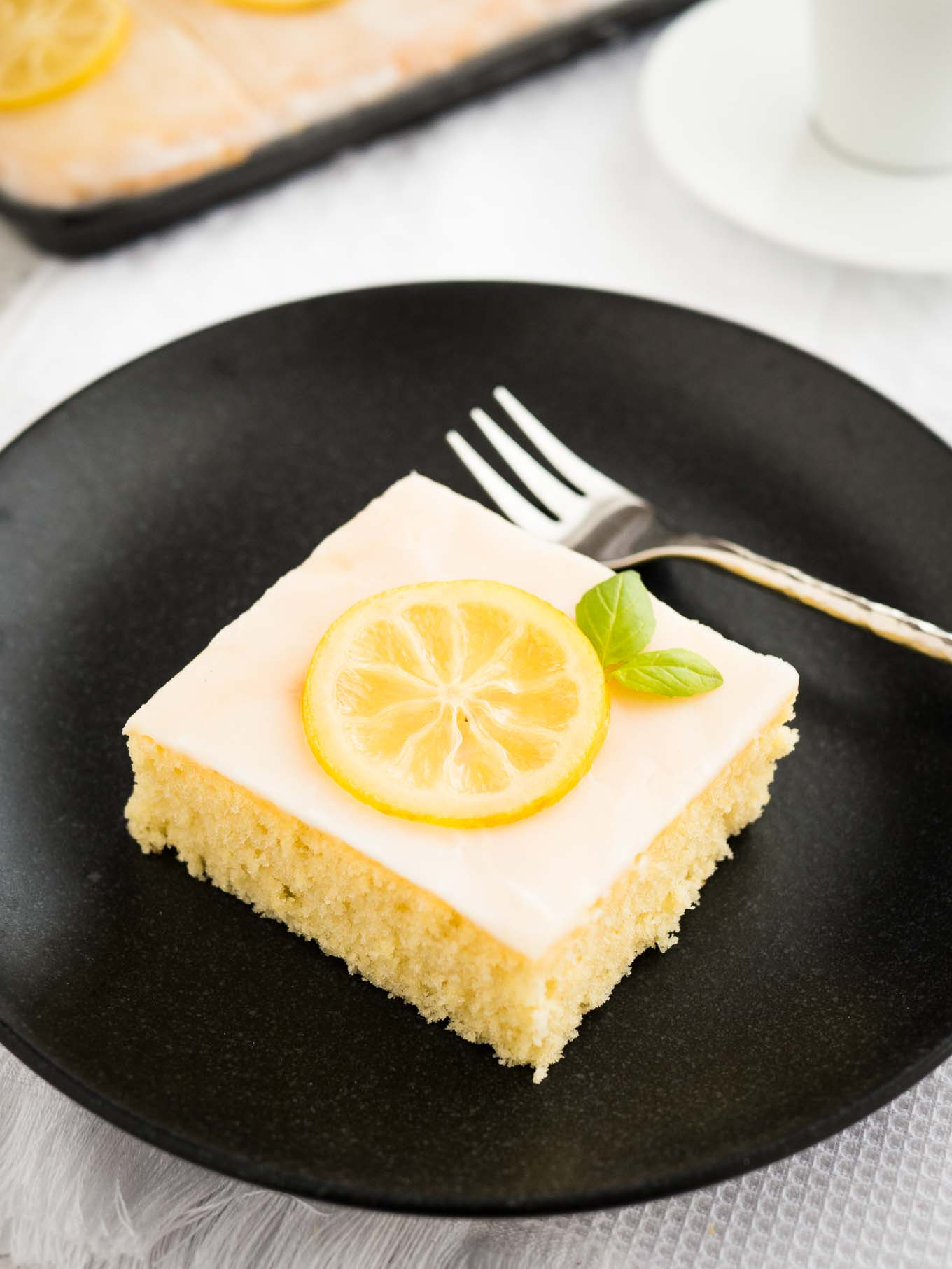 Homemade Lemon Sheet Cake Recipe