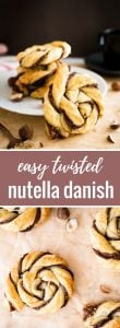Nutella Danish | Danish pastry | Nutella pastry | Puff Pastry | Easy Puff Pastry Dessert