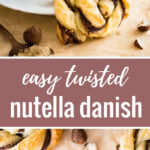 Nutella Danish | Danish pastry | Nutella pastry | Puff Pastry | Easy Puff Pastry Dessert