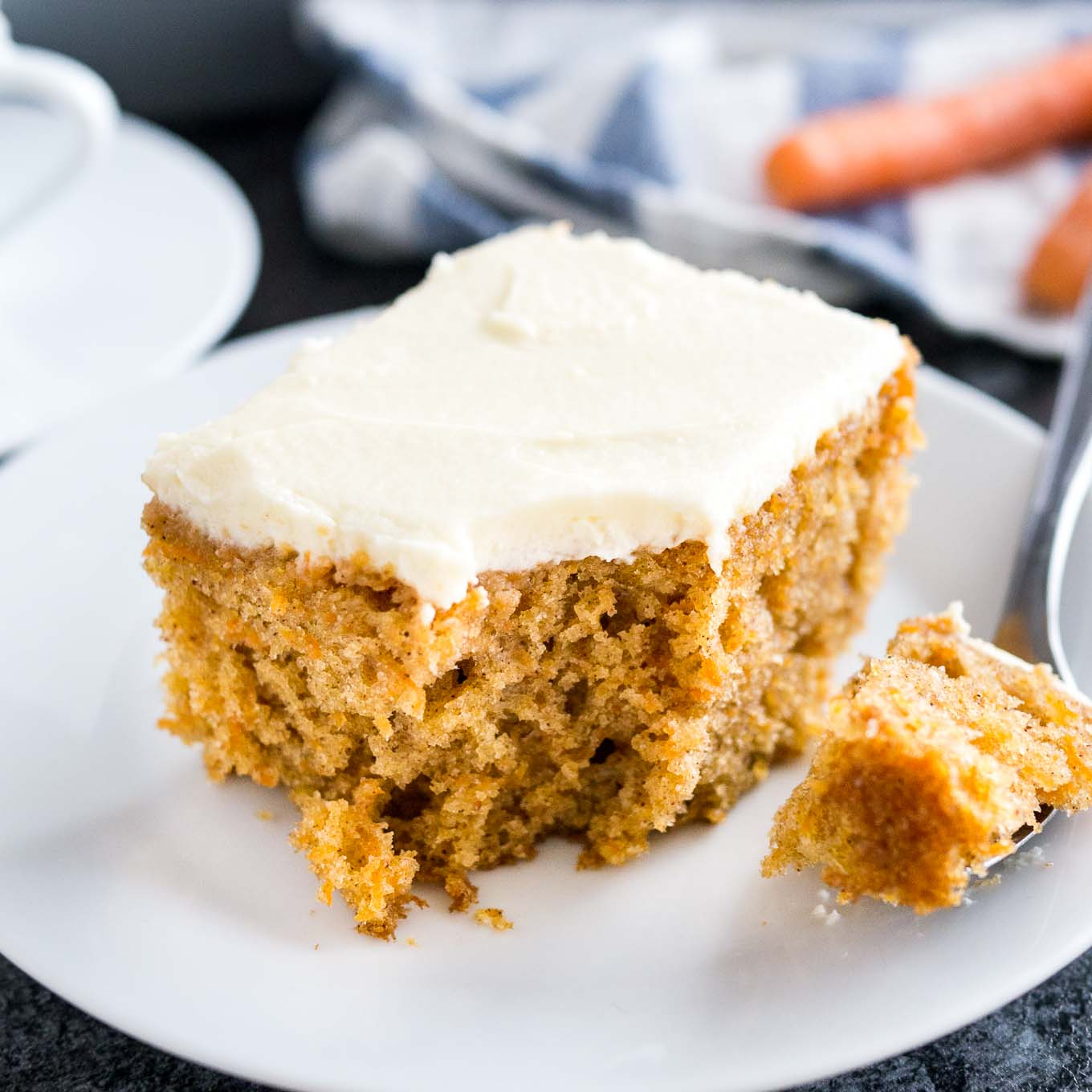 Easy Carrot Cake Recipe With Cream Cheese Frosting Nut Free