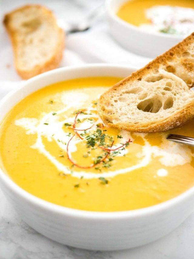 Instant Pot Carrot Soup | Pressure Cooker Carrot Soup | Carrot Coconut Soup | Easy Carrot Soup | Easy Instant Pot Recipe | Spicy and sweet carrot soup