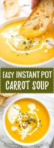 Instant Pot Carrot Soup | Pressure Cooker Carrot Soup | Carrot Coconut Soup | Easy Carrot Soup | Easy Instant Pot Recipe | Spicy and sweet carrot soup