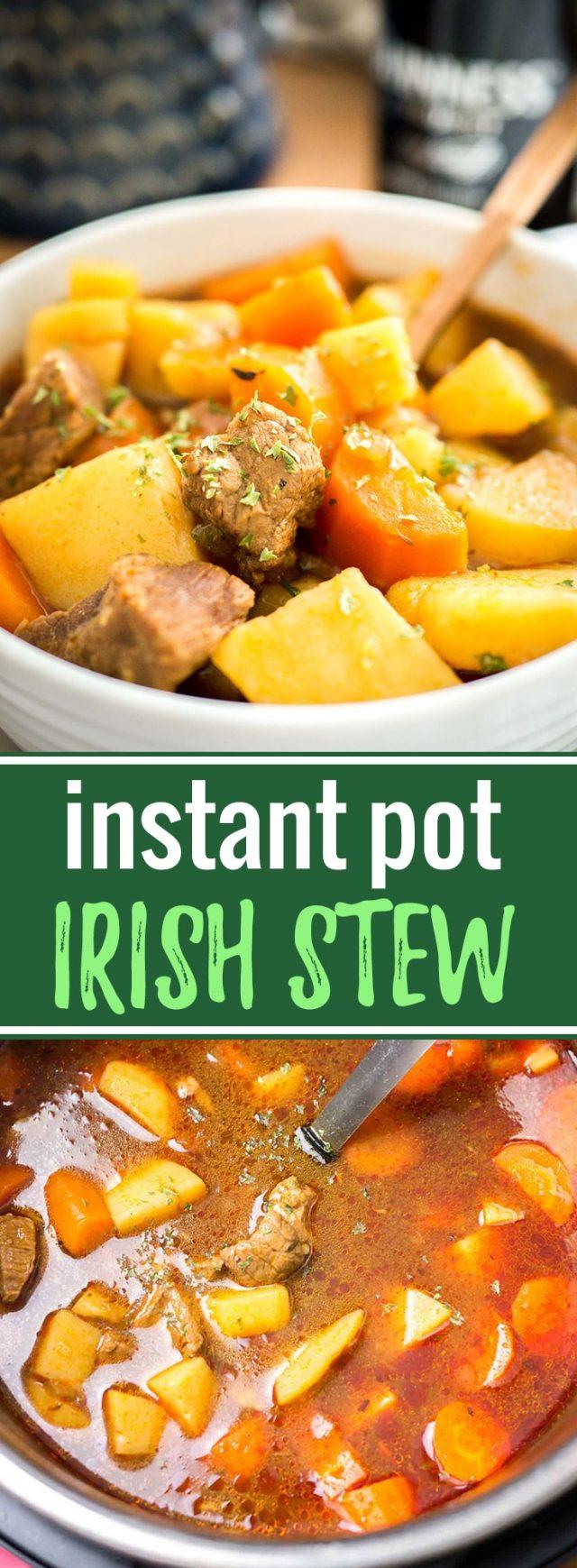 Instant Pot Irish Stew   Irish Beef Stew   Pressure Cooker Irish Stew   Beef Stew   Easy Stew Recipe   Tender Irish Stew   Beef and Guinness Stew