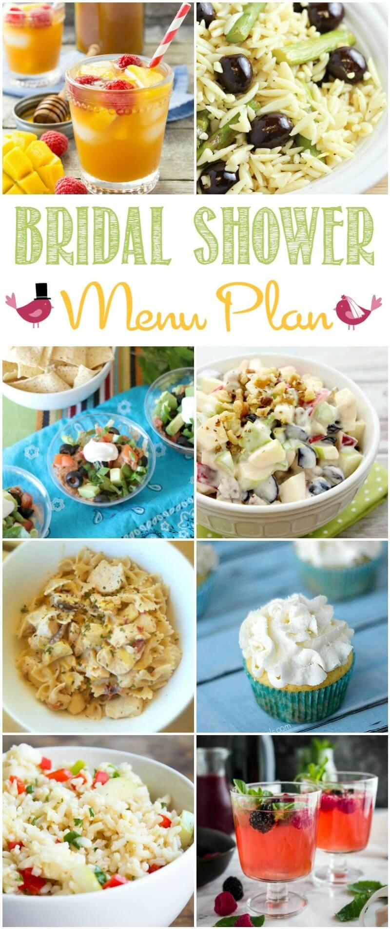 This Bridal Shower Menu Plan make it so easy to plan a perfect party!