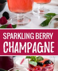 This Sparkling Berry Champagne Cocktail is the perfect drink for special occasions! Bubbly, festive, and so pretty, this easy cocktail is perfect for bridal showers and other celebrations.