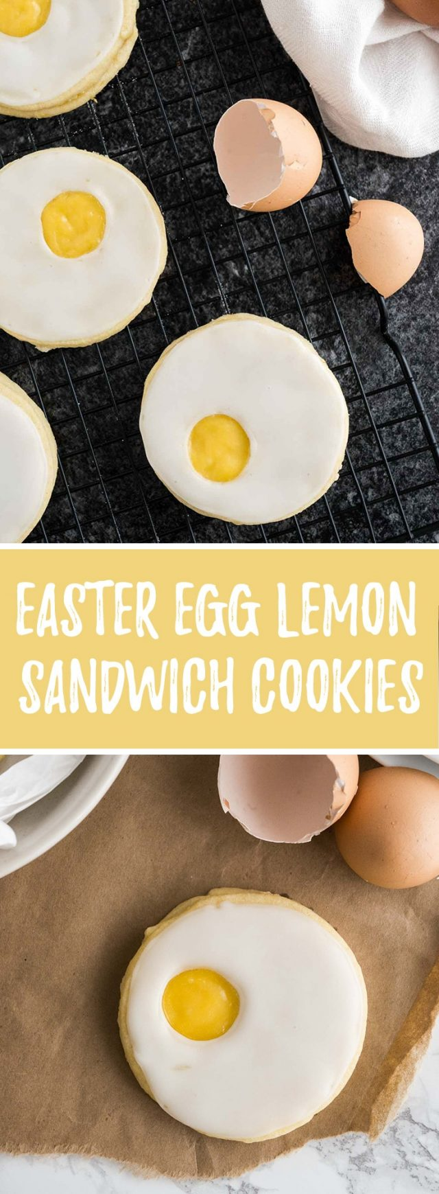 These cute Easter Sugar Cookies are bursting with flavor! Filled with lemon curd and topped with lemon icing, these egg-shaped sandwich cookies are a fun treat for your Easter celebration.
