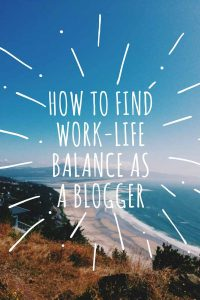 Finding work-life balance as a full-time blogger is not easy but it's important to take the time to relax and step away from your blog from time to time to avoid blogger burnout.