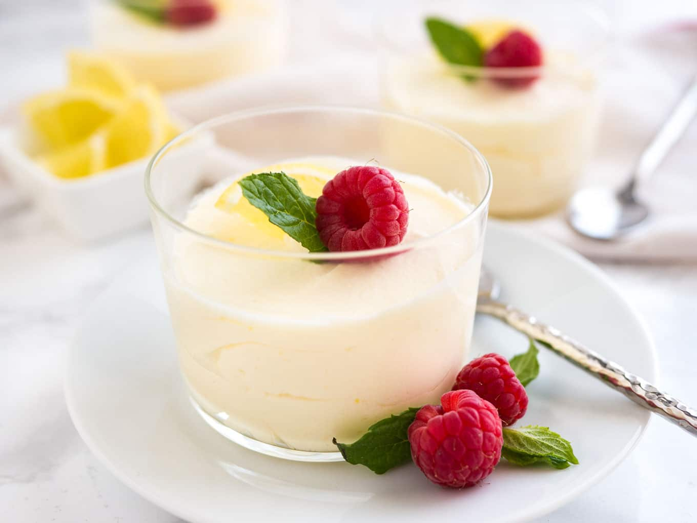This easy 3-ingredient Lemon Curd Mousse is the perfect fancy yet easy-to-make dessert for your next summer party!
