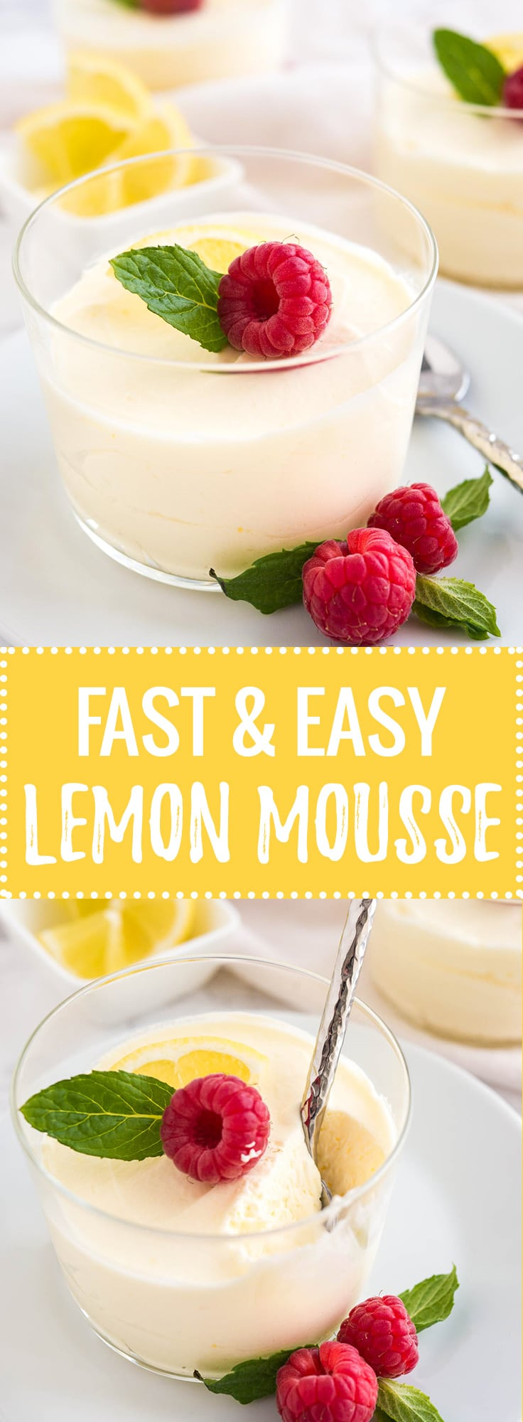 This easy Lemon Curd Mousse has only 3 ingredients and can be made in minutes! A perfect cold summer dessert that will impress your guests and is dangerously delicious, yet SO easy to make from scratch.