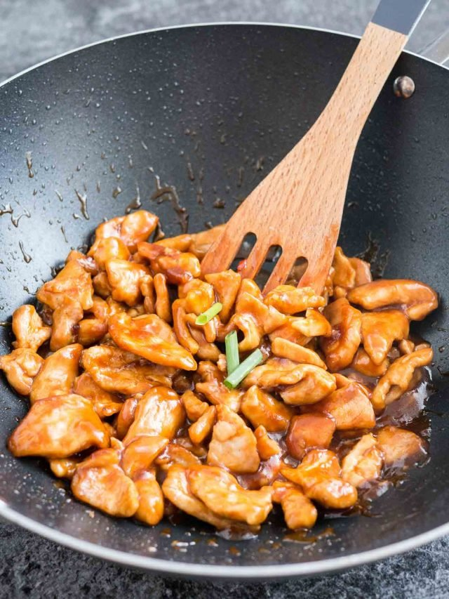 Easy healthy general tsos chicken recipe plated cravings easy general tsos chicken recipe forumfinder Choice Image