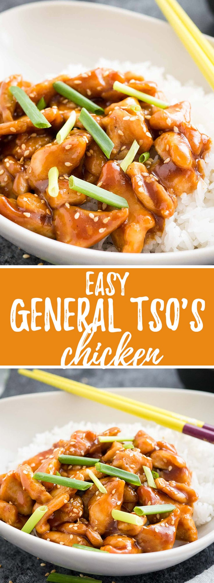 General Tso's is one of the most popular Chinese Food takeout dishes that is sweet, slightly spicy, and so easy to make at home!