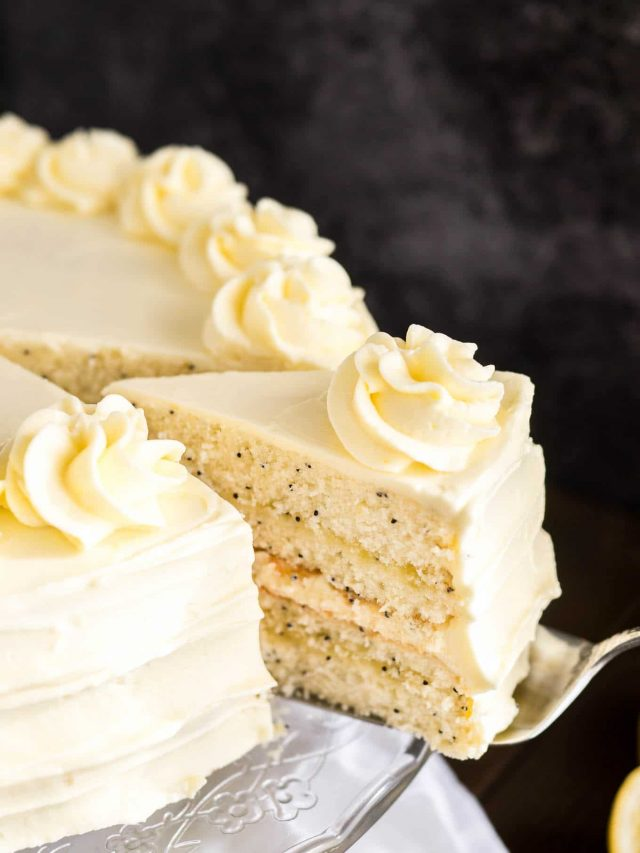 Lemon Poppy Seed Layer Cake