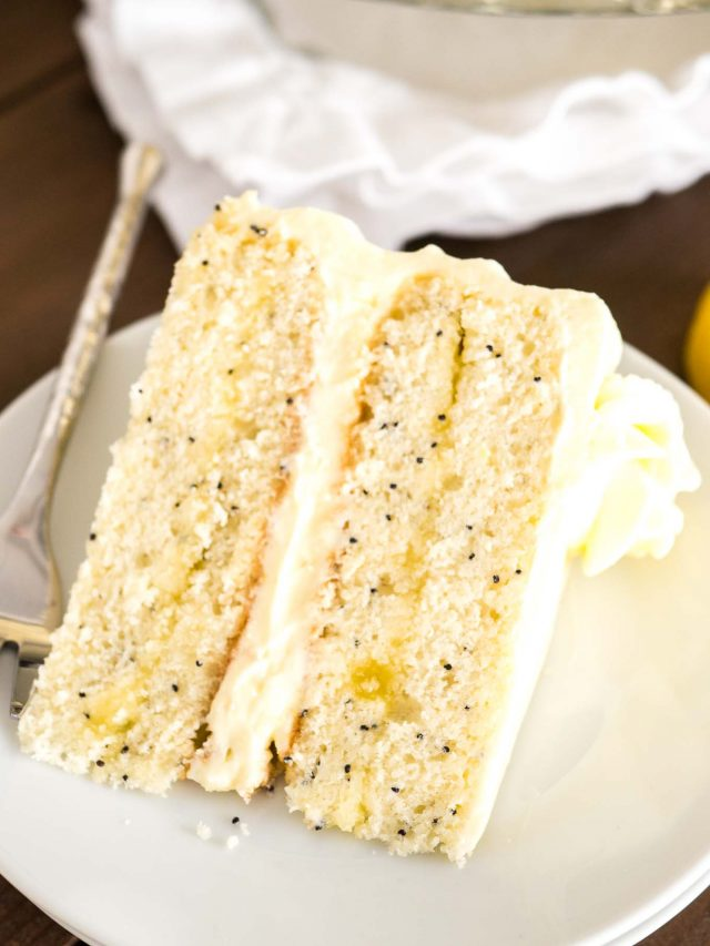 Lemon Curd Cake with Poppy Seeds
