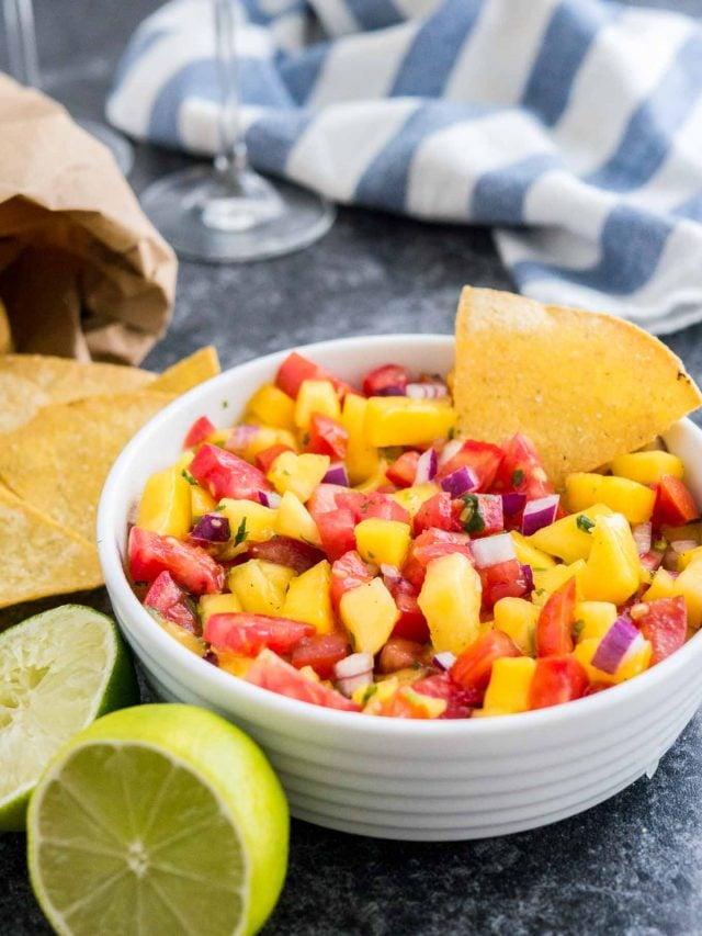 Fresh Tomato Salsa Recipe with Mango