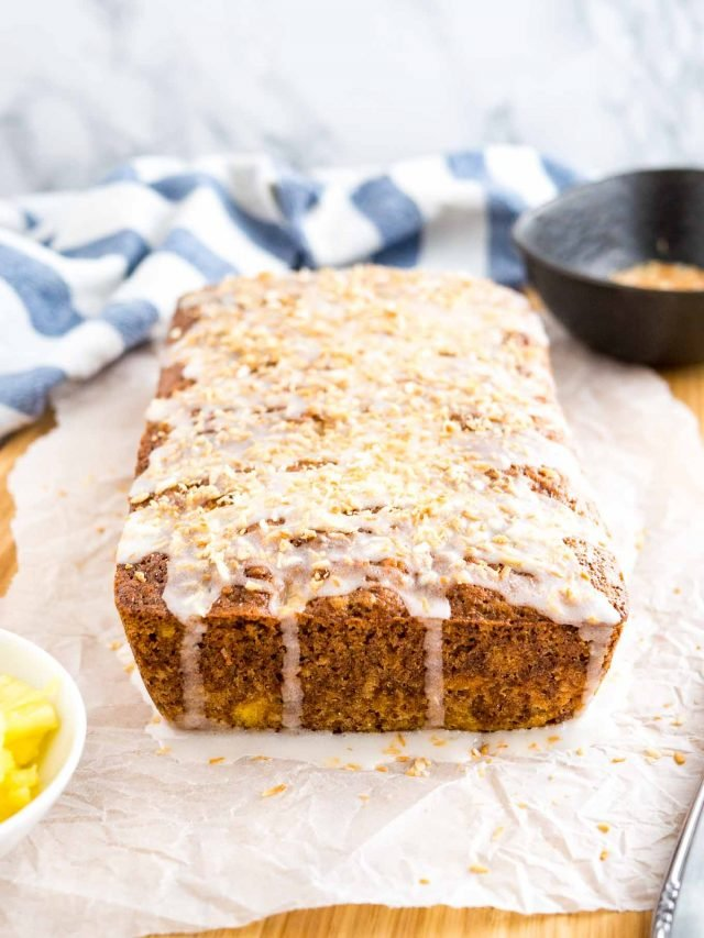 Zucchini Bread with Pineapple and Coconut