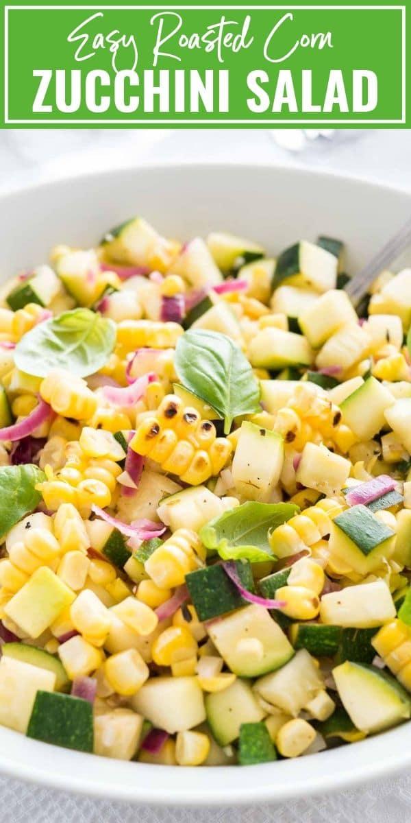 Zucchini Salad with Roasted Corn