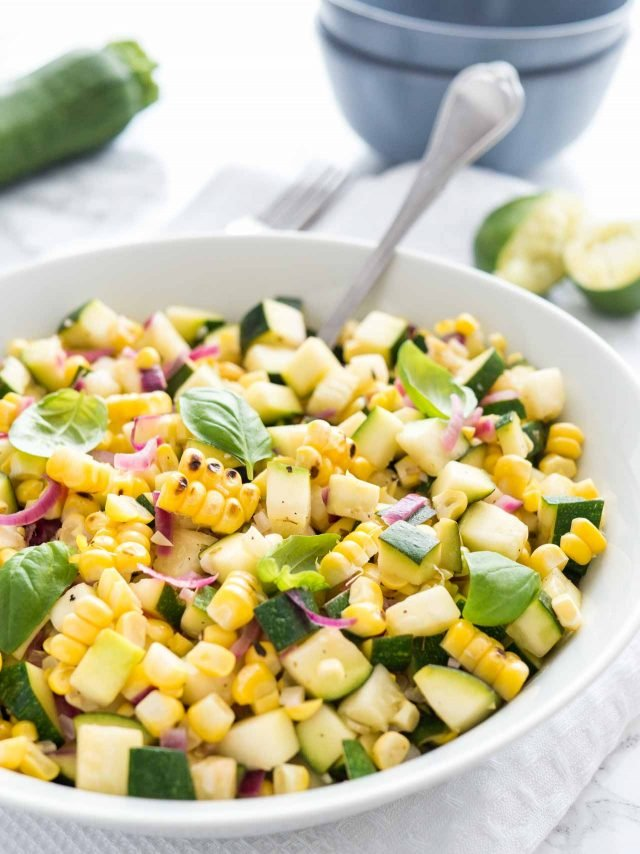 Delicious zucchini summer salad