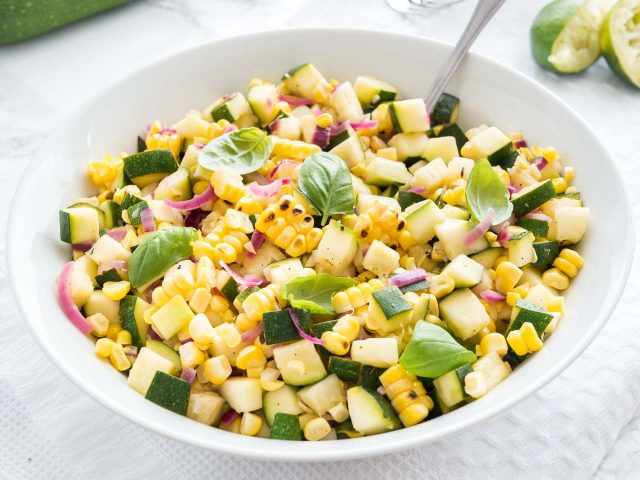 Roasted Corn Salad with Zucchini